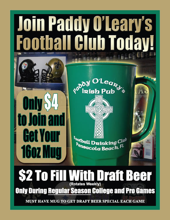 Join Paddy O'Leary's Football Club